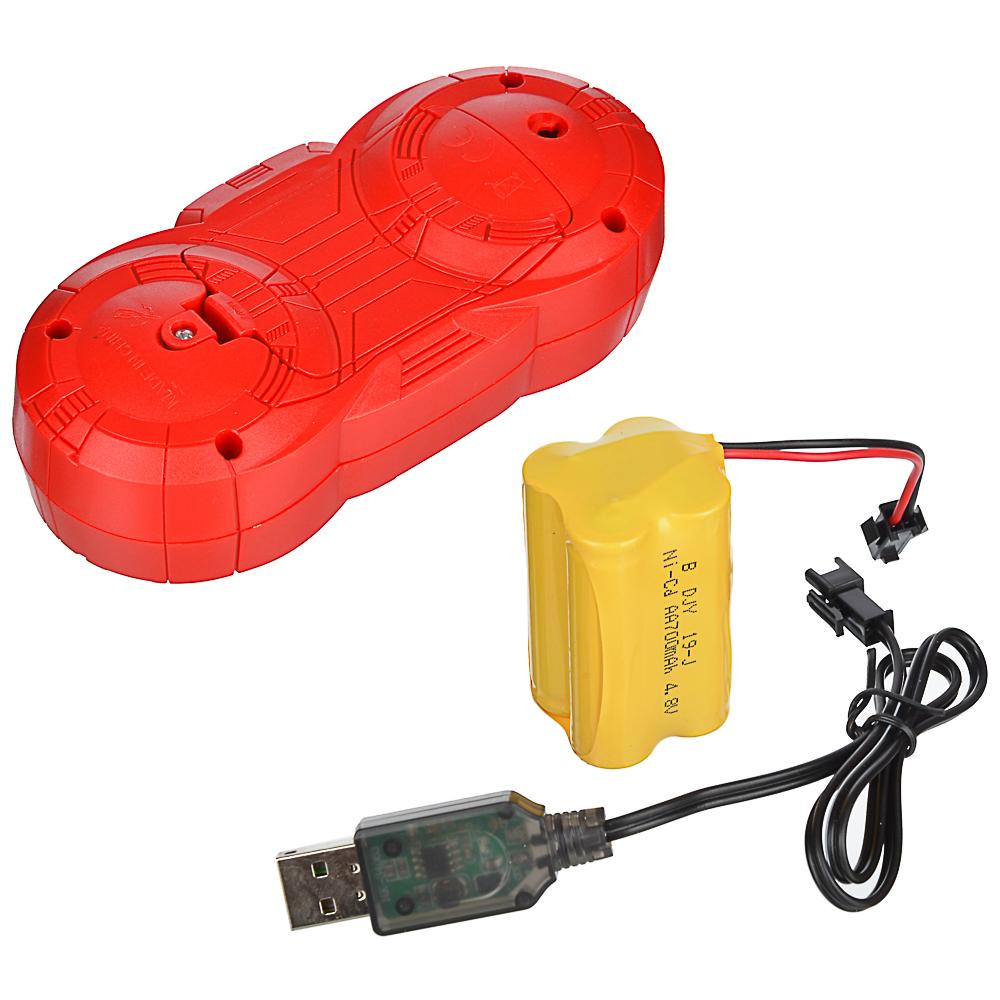 ИГРОЛЕНД Игрушка в виде робота программ. ABS, свет, звук, движ., 2АА, ЗУ/АКБ, 24х15,5х37,5 см - 5