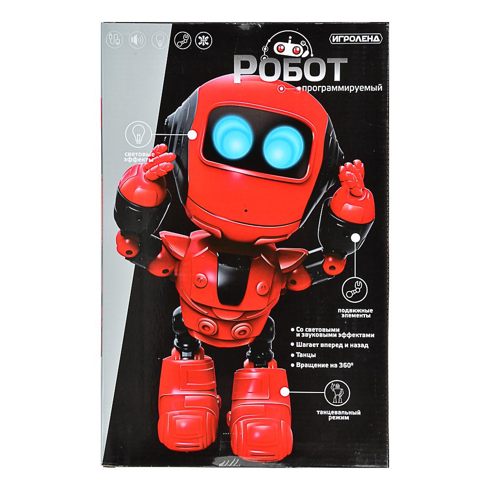 ИГРОЛЕНД Игрушка в виде робота программ. ABS, свет, звук, движ., 2АА, ЗУ/АКБ, 24х15,5х37,5 см - 6