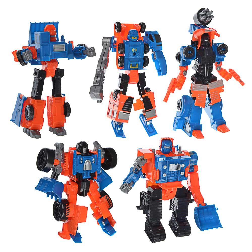ИГРОЛЕНД Робот трансформирующийся в стр. технику, пластик, 17х22х5,5-7см, 5 дизайнов - 2