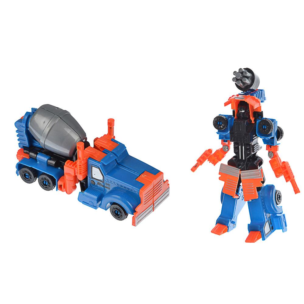 ИГРОЛЕНД Робот трансформирующийся в стр. технику, пластик, 17х22х5,5-7см, 5 дизайнов - 4