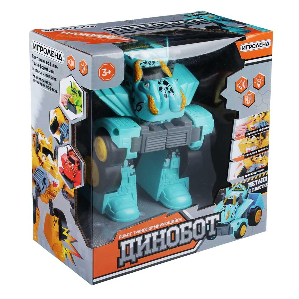 ИГРОЛЕНД Игрушка в виде динобота, металл, ABS, 3хААА, свет, 21х29х10см, 8 дизайнов - 4