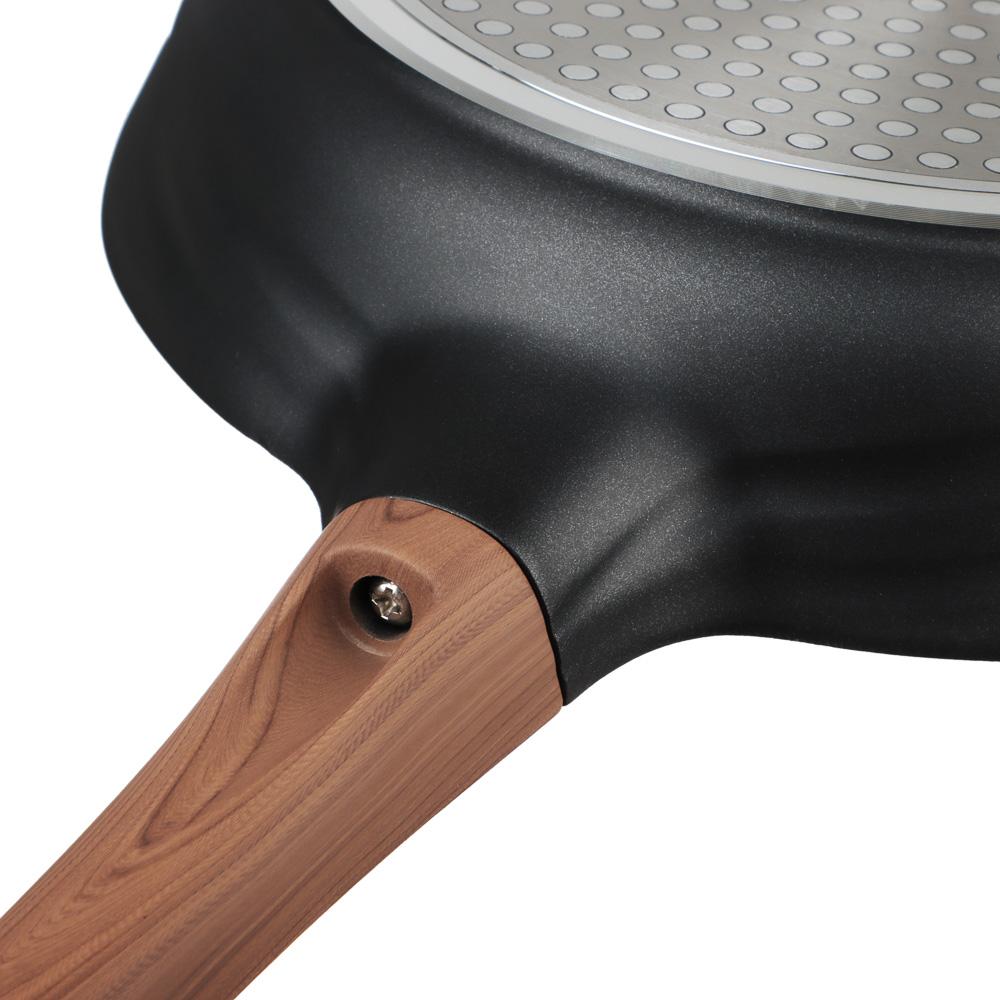SATOSHI Карнуа Сковорода литая d26см, антипригарное покрытие Мрамор, индукция - 6