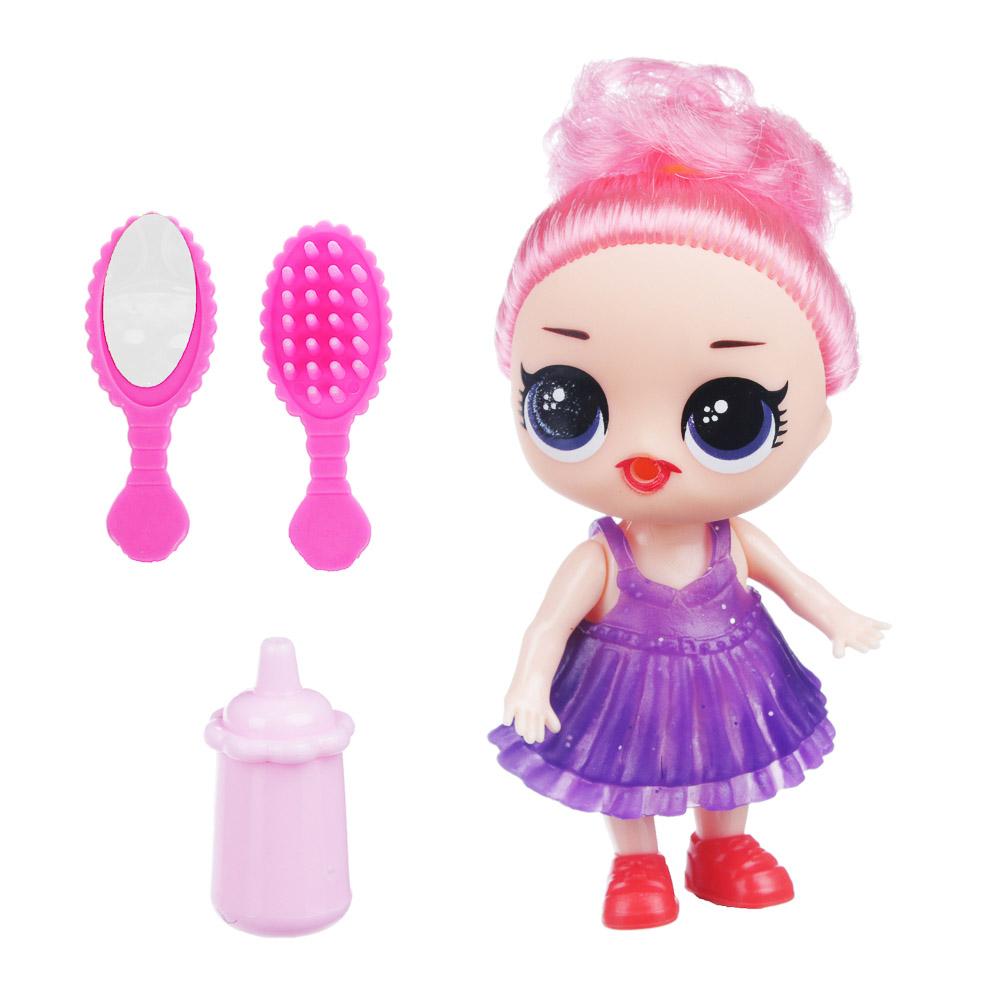 ИГРОЛЕНД Кукла сюрприз в чемоданчике 7 в 1, металл, PP, 6 дизайнов - 2