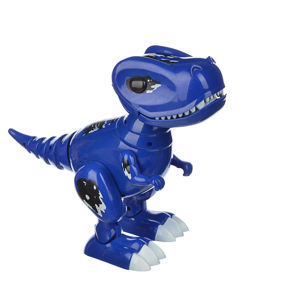 "ИГРОЛЕНД Робот-динозавр ""Динопитомец Тироня"" звук, свет, движ., ABS, 3АА, 26х20,5х10см, 2 цвета - 4"