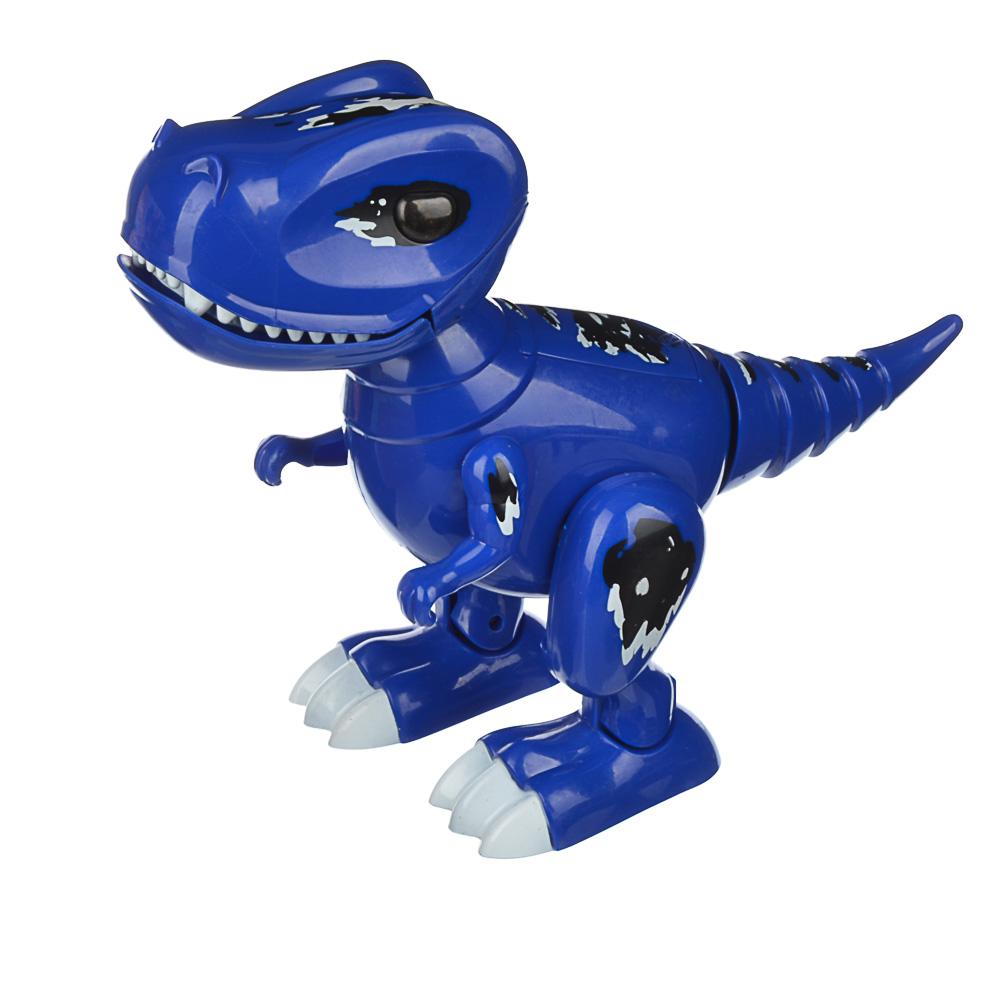 "ИГРОЛЕНД Робот-динозавр ""Динопитомец Тироня"" звук, свет, движ., ABS, 3АА, 26х20,5х10см, 2 цвета - 5"