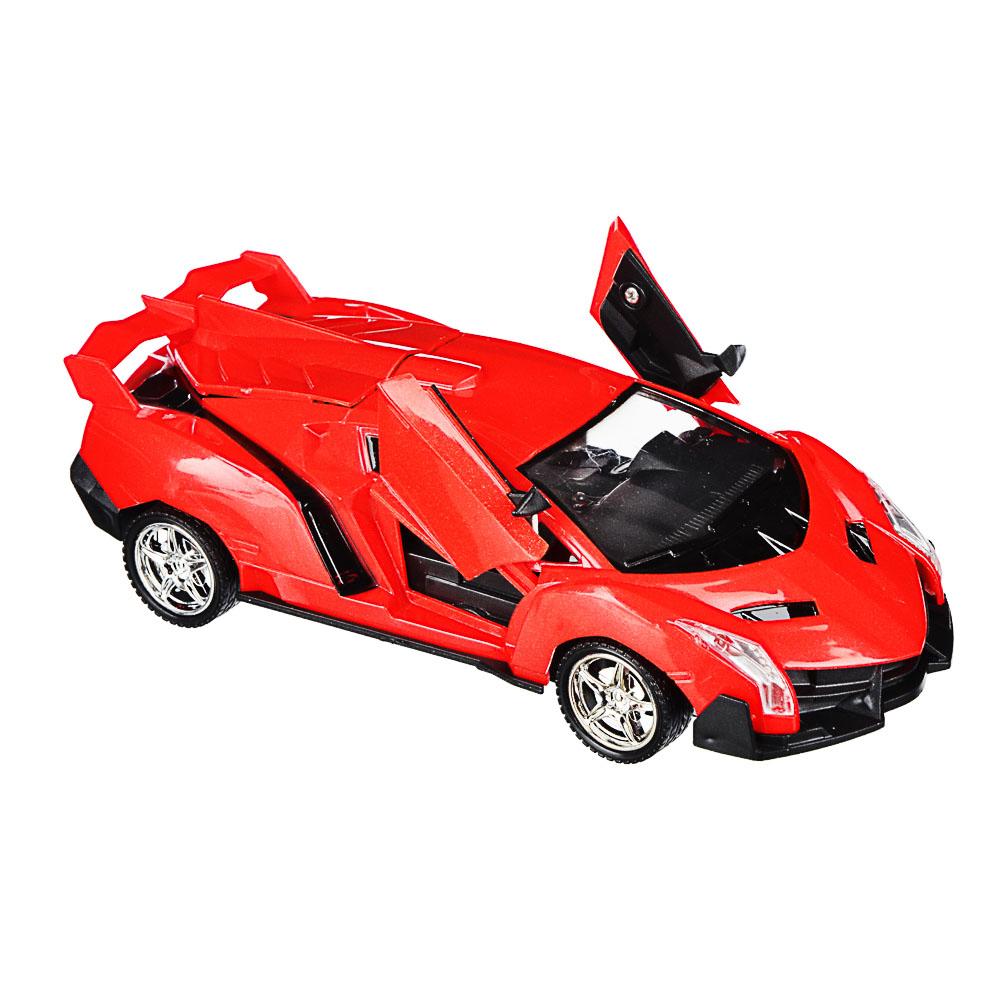 """ИГРОЛЕНД Машина радиоуправляемая """"Спорткар"""" двери откр,свет, ABS, 5хАА, 25,7х13,2х10,8см, 6 дизайнов - 4"""