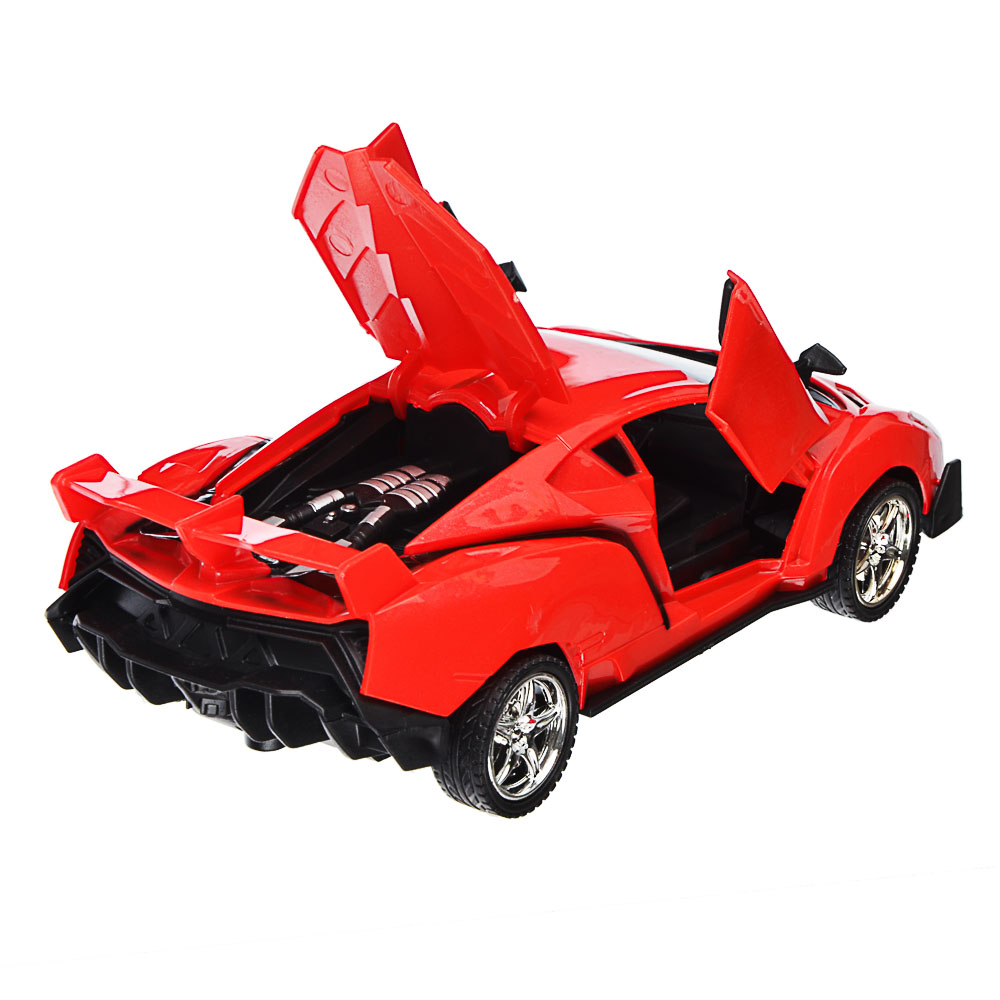 """ИГРОЛЕНД Машина радиоуправляемая """"Спорткар"""" двери откр,свет, ABS, 5хАА, 25,7х13,2х10,8см, 6 дизайнов - 5"""