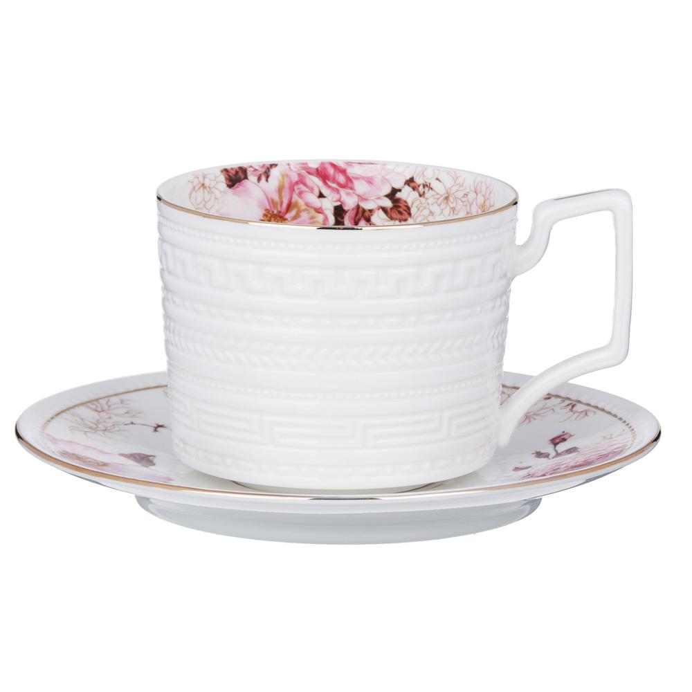 MILLIMI Роскошь Набор чайный 14 пр., чашка 290мл, чайник 1150мл, сахарница 380мл, кост. фрф - 2