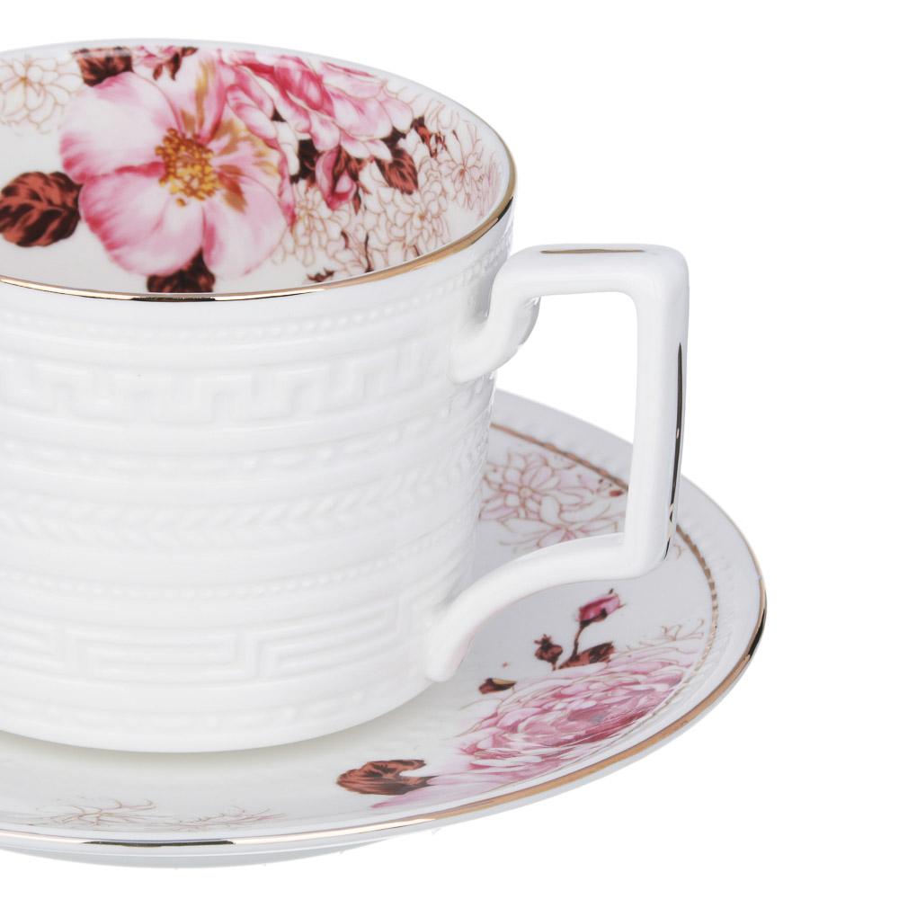 MILLIMI Роскошь Набор чайный 14 пр., чашка 290мл, чайник 1150мл, сахарница 380мл, кост. фрф - 3