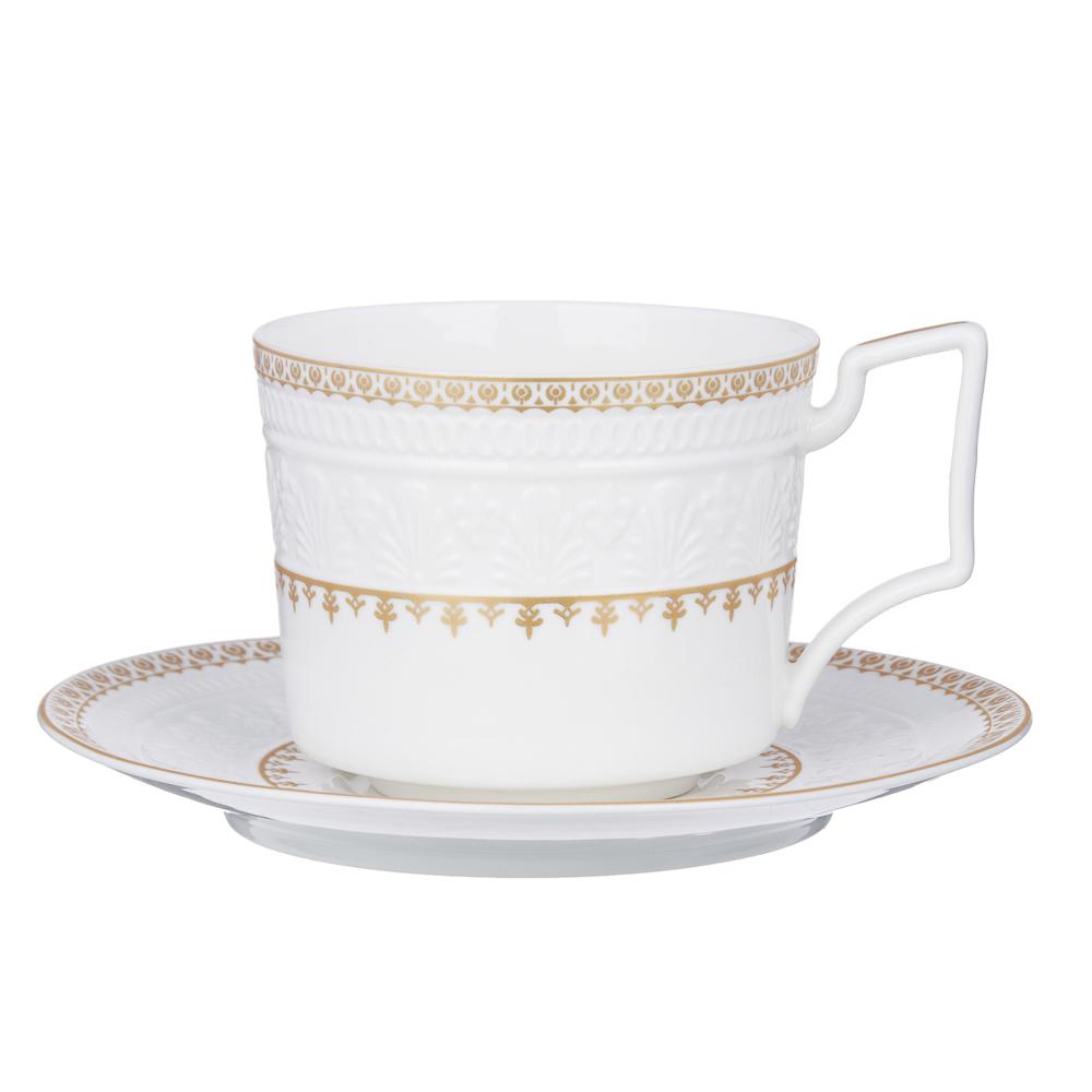 MILLIMI Наполеон Набор чайный 14 пр., чашка 300мл, чайник 1250мл, сахарница 350мл, кост. фрф - 2