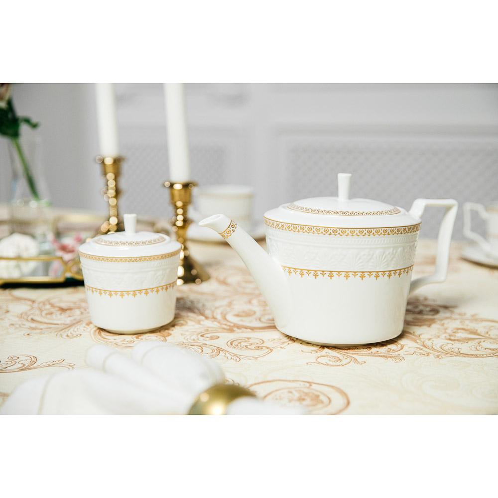 MILLIMI Наполеон Набор чайный 14 пр., чашка 300мл, чайник 1250мл, сахарница 350мл, кост. фрф - 7
