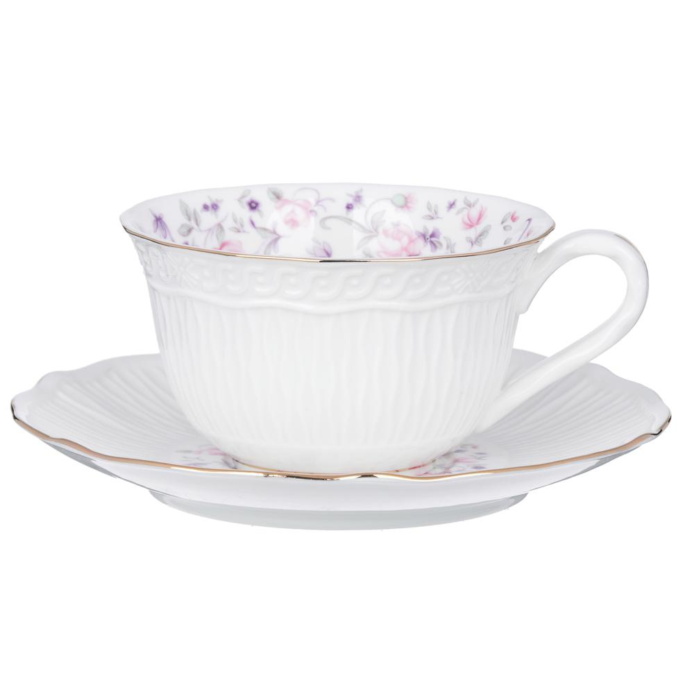 MILLIMI Пастораль Набор чайный 14 пр., чашка 250мл, чайник 900мл, сахарница 280 мл, кост. фрф - 2