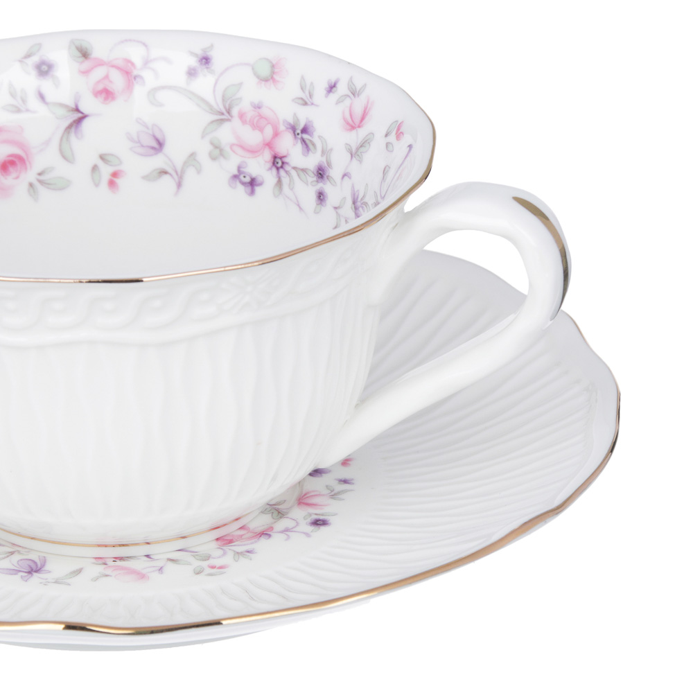 MILLIMI Пастораль Набор чайный 14 пр., чашка 250мл, чайник 900мл, сахарница 280 мл, кост. фрф - 3