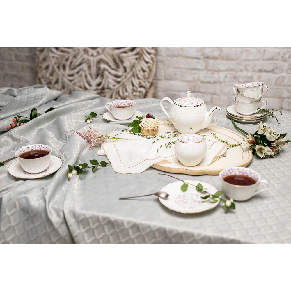 MILLIMI Пастораль Набор чайный 14 пр., чашка 250мл, чайник 900мл, сахарница 280 мл, кост. фрф - 9