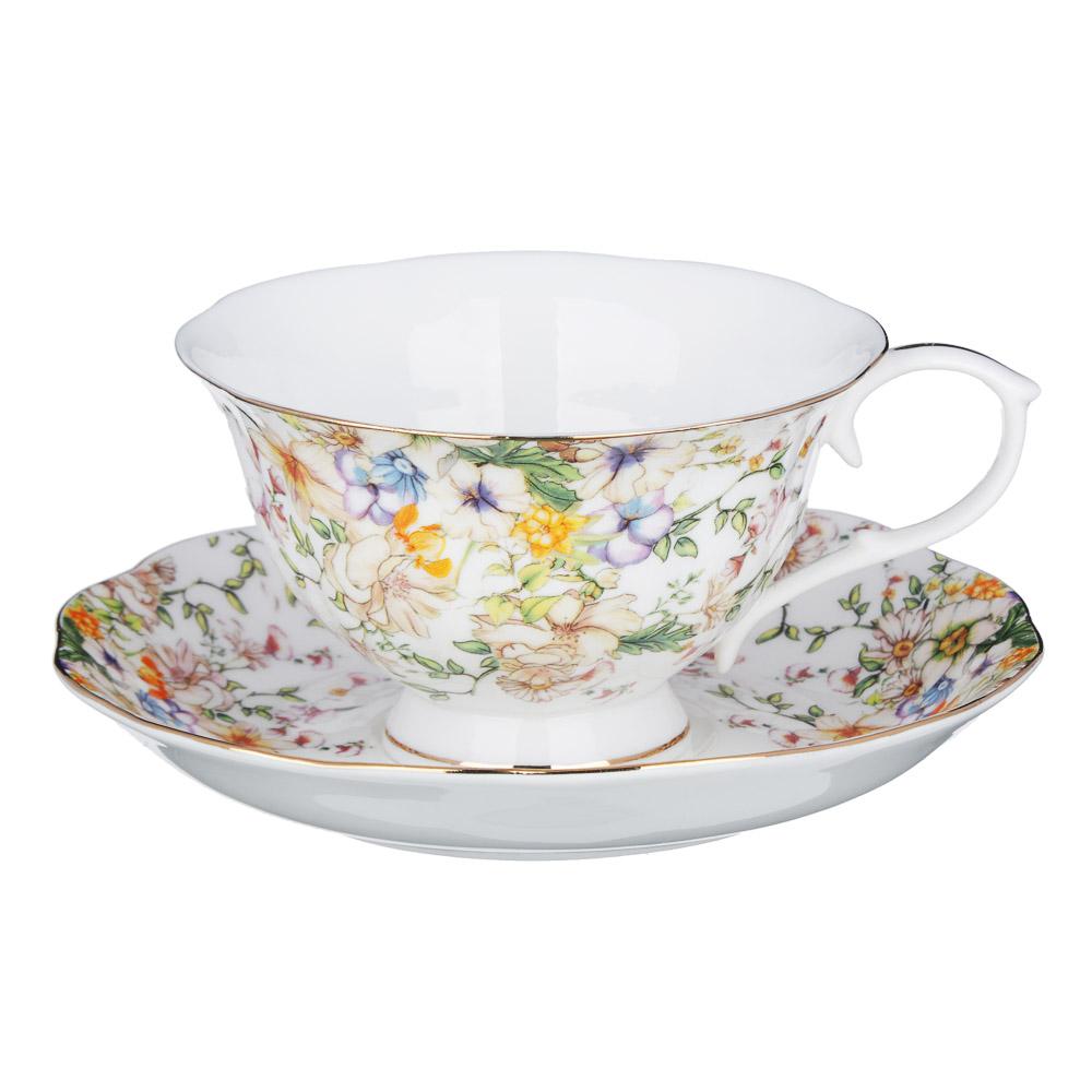 MILLIMI Версаль Набор чайный 14 пр., чашка 240мл, чайник 1350мл, сахарница 400мл, кост. фрф - 2