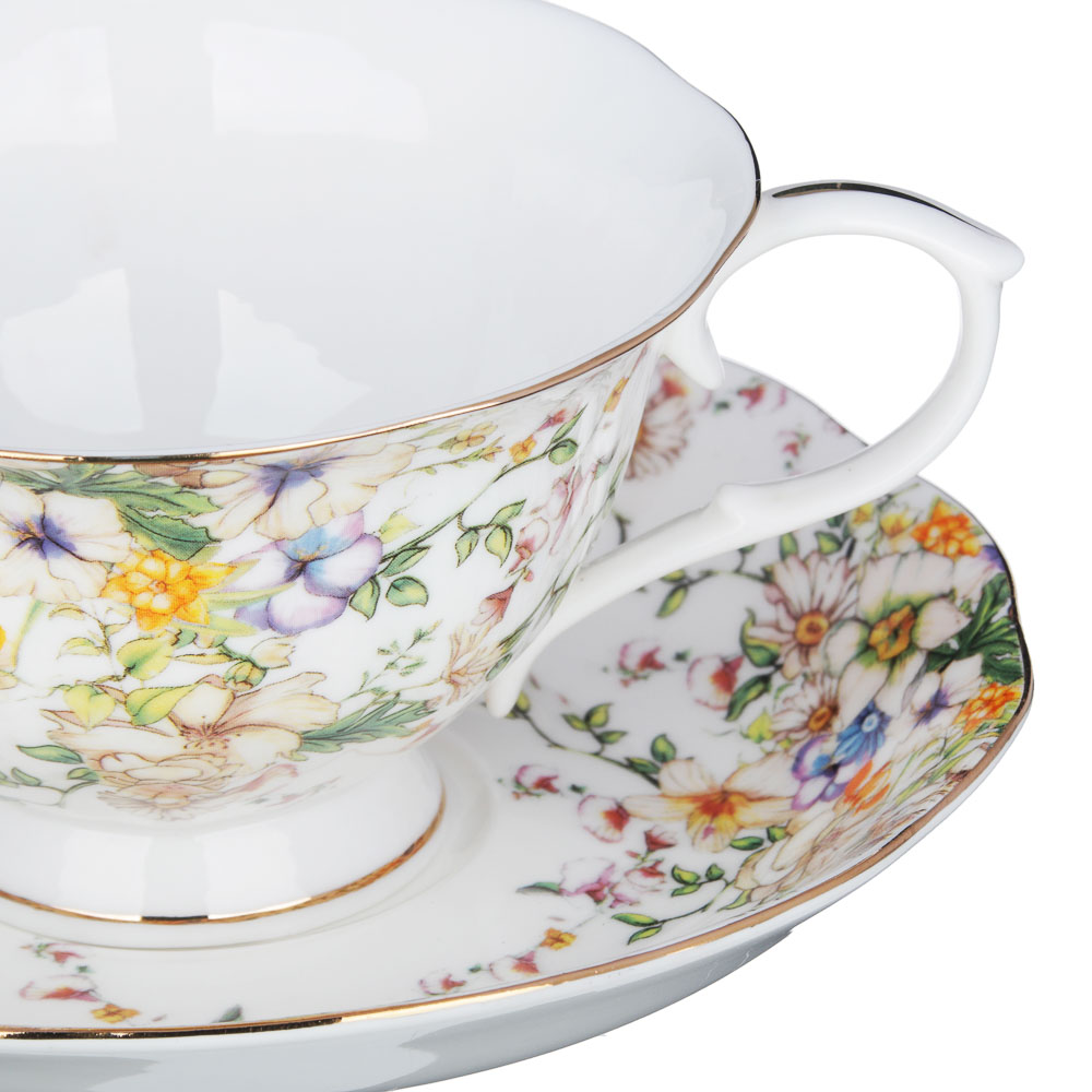 MILLIMI Версаль Набор чайный 14 пр., чашка 240мл, чайник 1350мл, сахарница 400мл, кост. фрф - 3