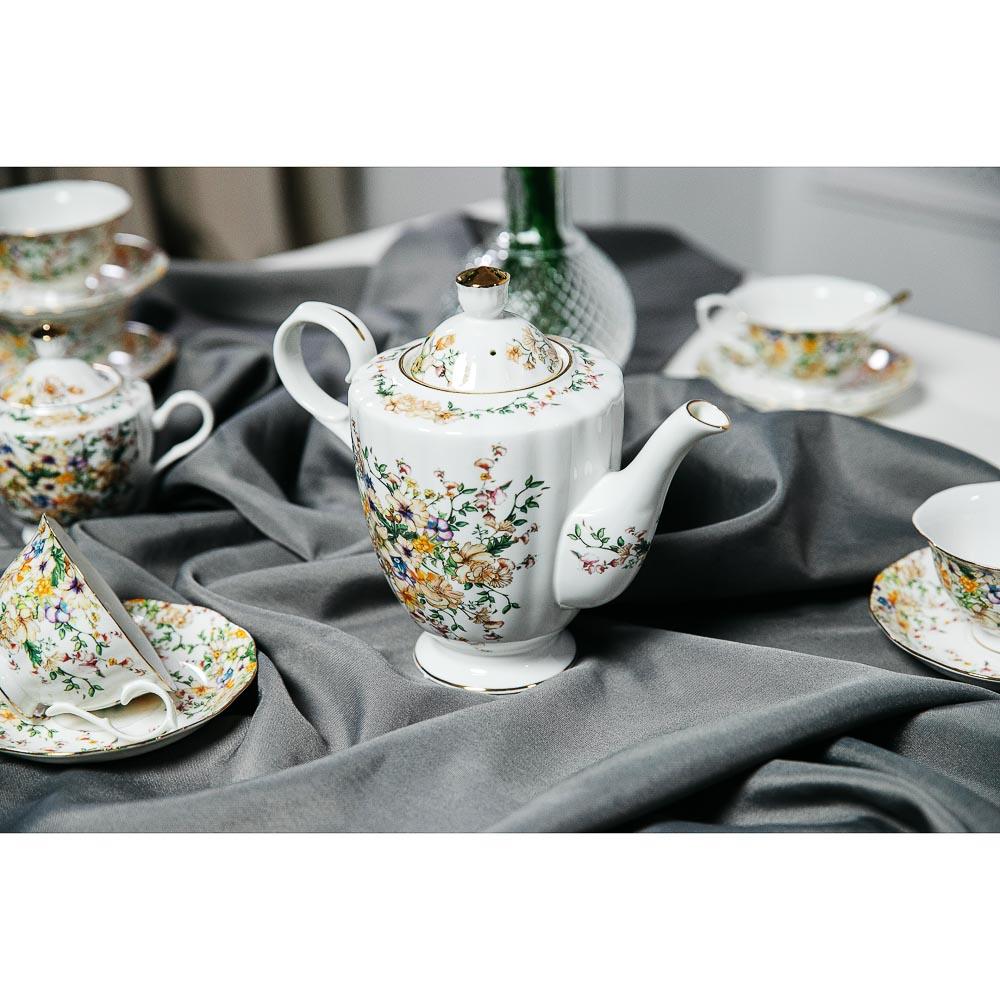 MILLIMI Версаль Набор чайный 14 пр., чашка 240мл, чайник 1350мл, сахарница 400мл, кост. фрф - 7