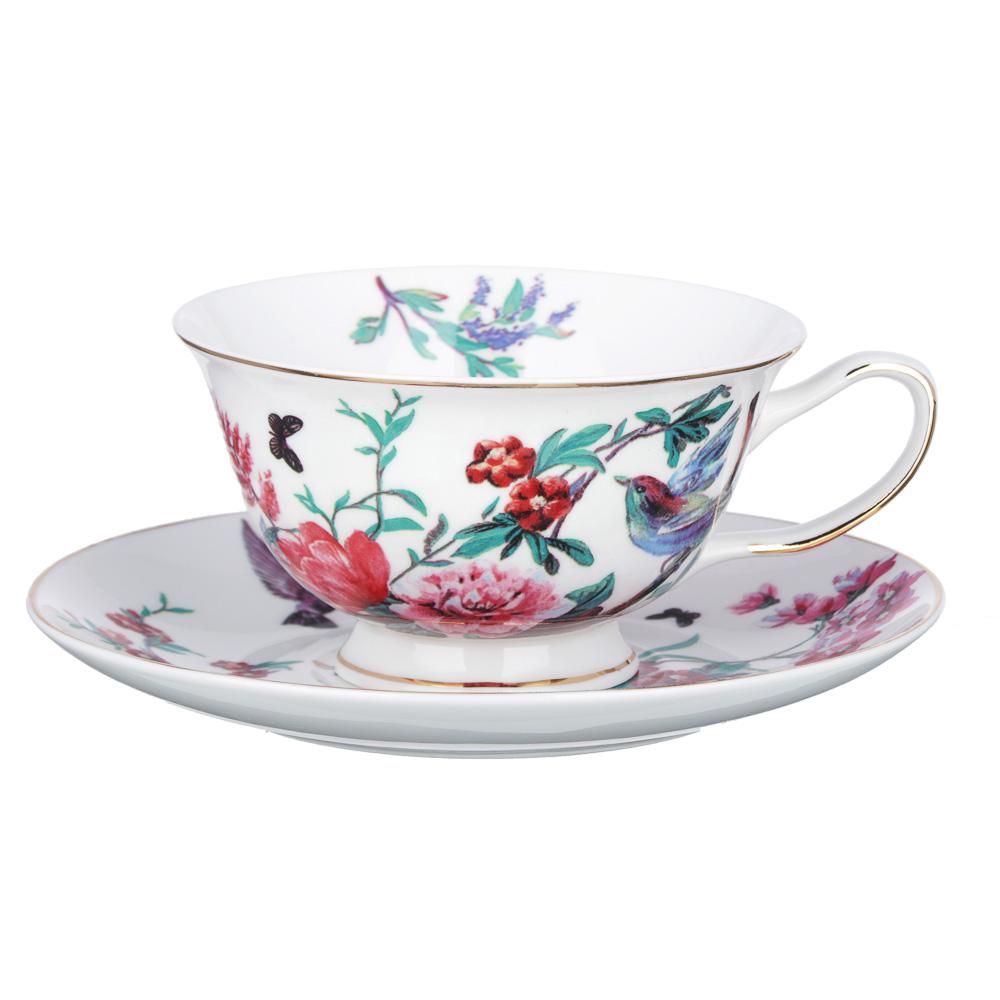 MILLIMI Волшебные цветы Набор чайный 2 пр., 220мл, костяной фарфор, 4 дизайна - 2