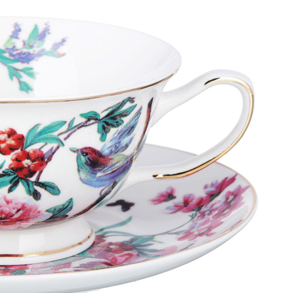 MILLIMI Волшебные цветы Набор чайный 2 пр., 220мл, костяной фарфор, 4 дизайна - 3