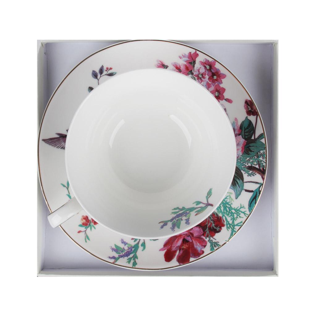 MILLIMI Волшебные цветы Набор чайный 2 пр., 220мл, костяной фарфор, 4 дизайна - 4