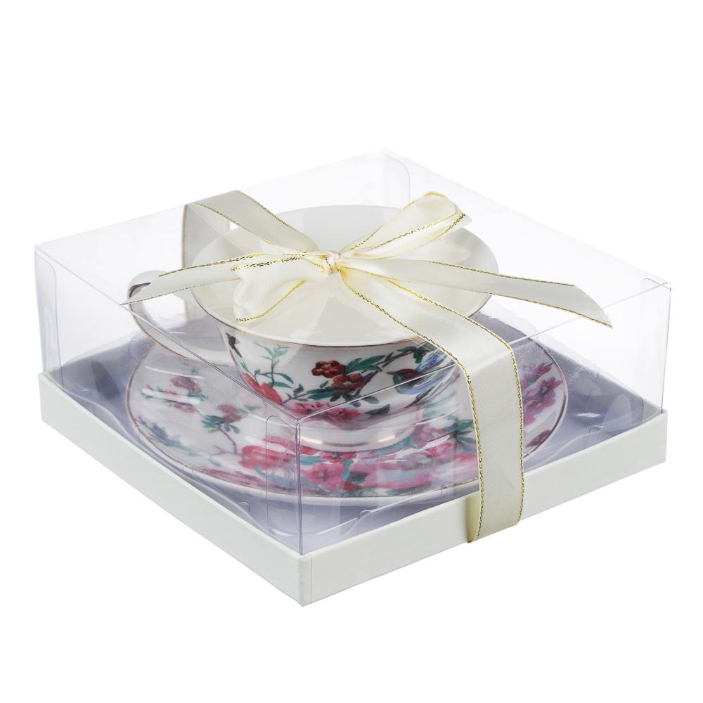MILLIMI Волшебные цветы Набор чайный 2 пр., 220мл, костяной фарфор, 4 дизайна - 5