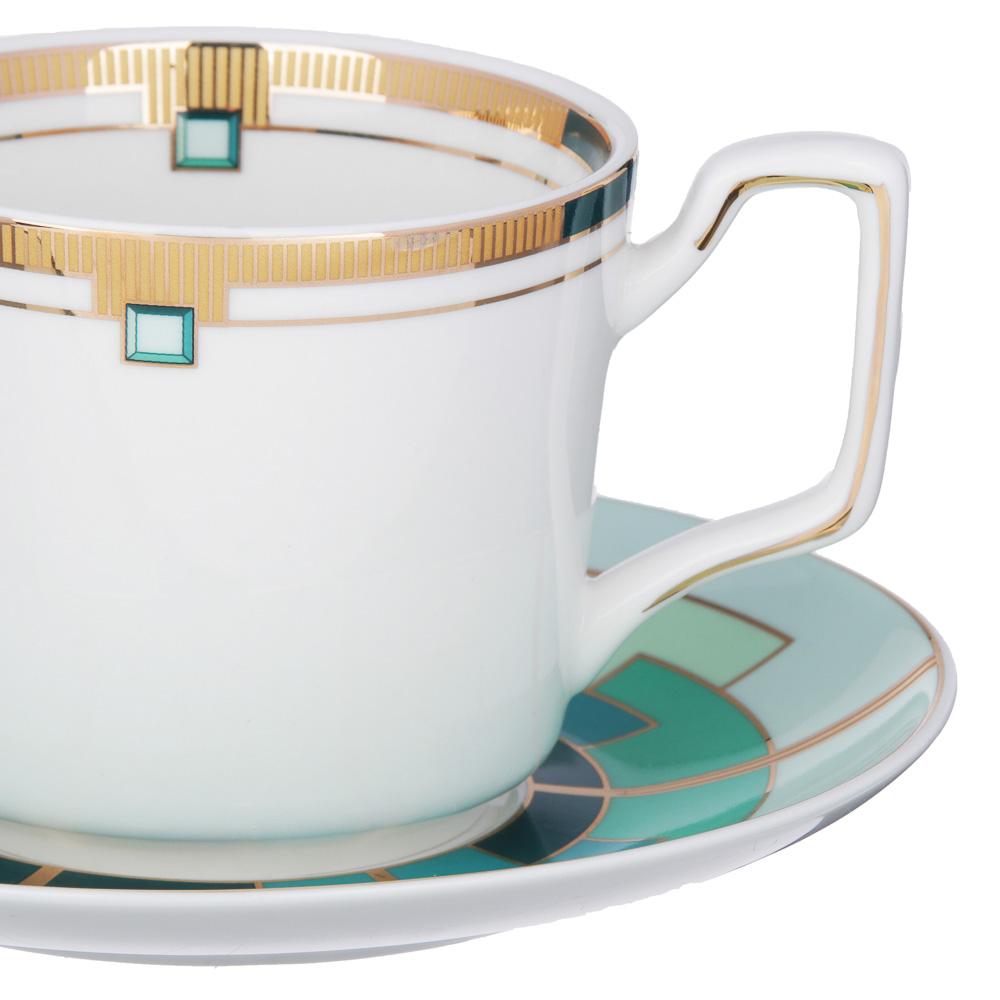 MILLIMI Изумруд Набор чайный 12 пр., 260мл, костяной фарфор - 2