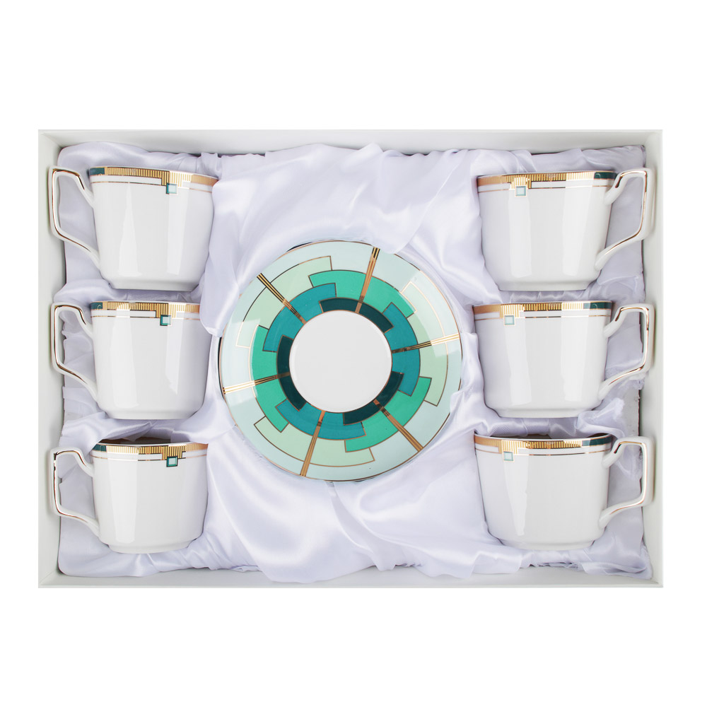 MILLIMI Изумруд Набор чайный 12 пр., 260мл, костяной фарфор - 3