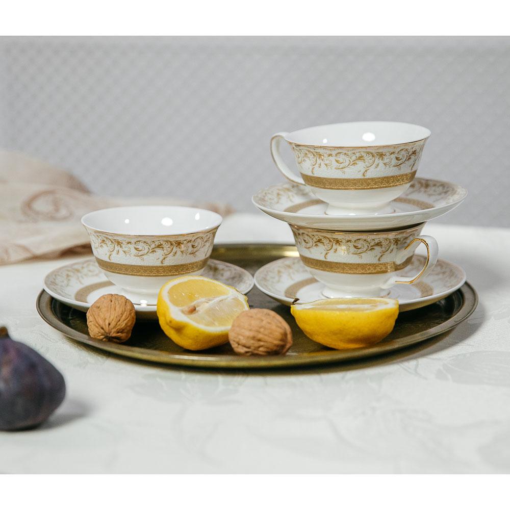 MILLIMI Муза Набор чайный 12 пр., 220мл, костяной фарфор - 5
