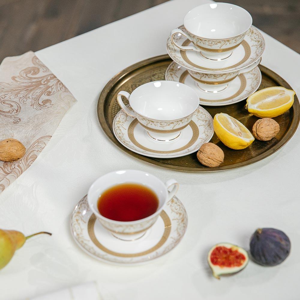 MILLIMI Муза Набор чайный 12 пр., 220мл, костяной фарфор - 6