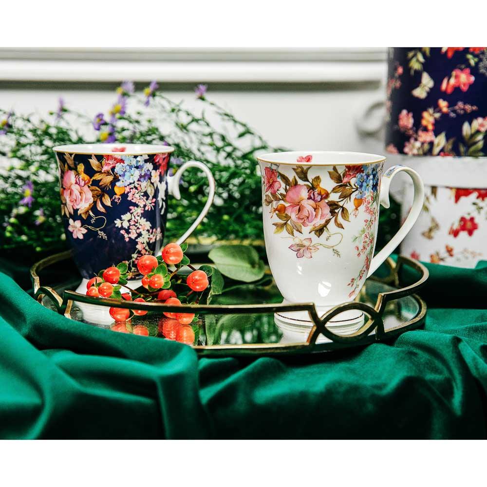 MILLIMI Японский сад Кружка 320мл, костяной фарфор, 4 дизайна, подар. упак. - 8