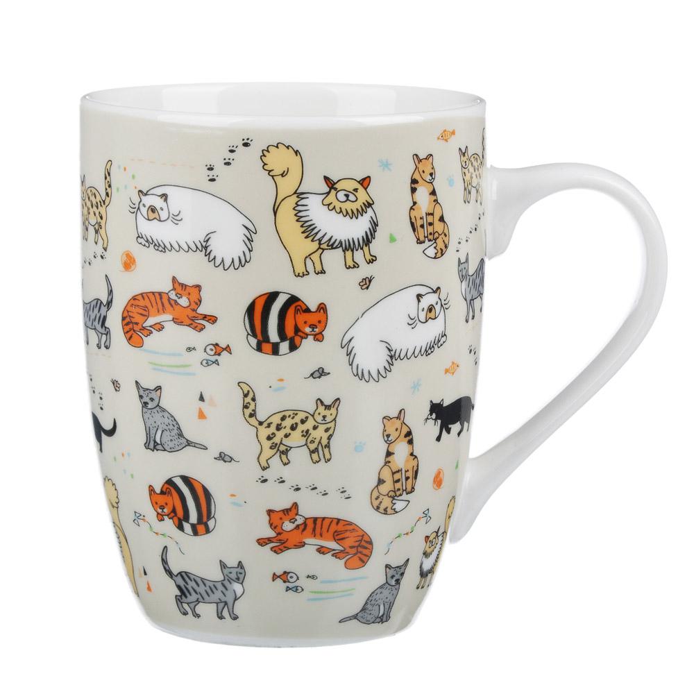 MILLIMI Веселые коты Кружка 340мл, керамика, 4 дизайн - 2
