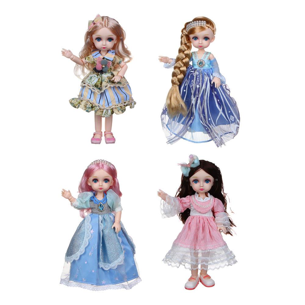 ИГРОЛЕНД Кукла классическая шарнирная, коллекционная, 28см, PP,PVC, полиэстер, 20х31х7см, 4 дизайна - 2