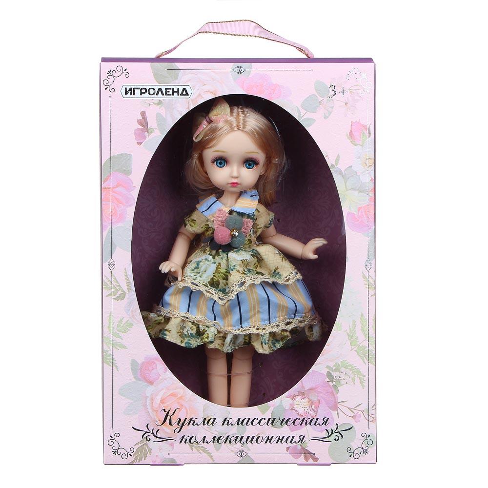 ИГРОЛЕНД Кукла классическая шарнирная, коллекционная, 28см, PP,PVC, полиэстер, 20х31х7см, 4 дизайна - 4