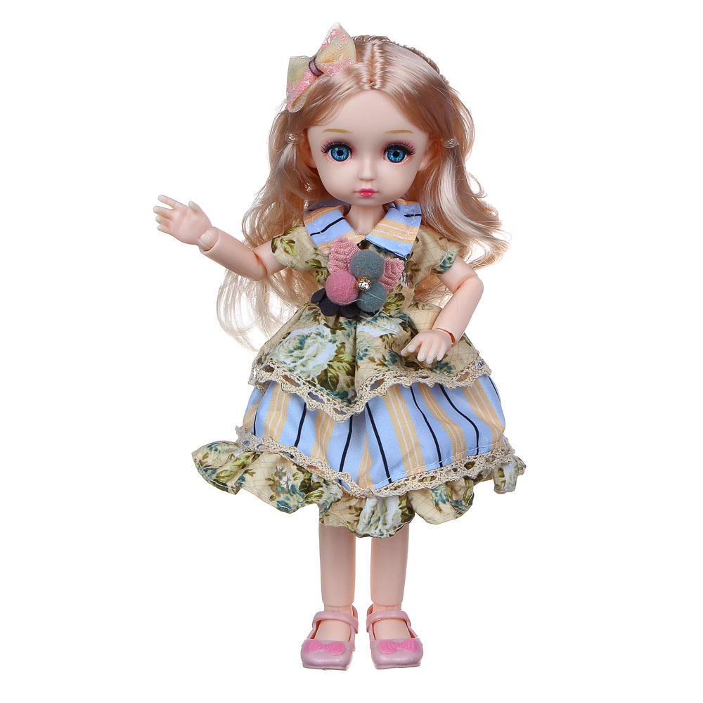 ИГРОЛЕНД Кукла классическая шарнирная, коллекционная, 28см, PP,PVC, полиэстер, 20х31х7см, 4 дизайна - 5