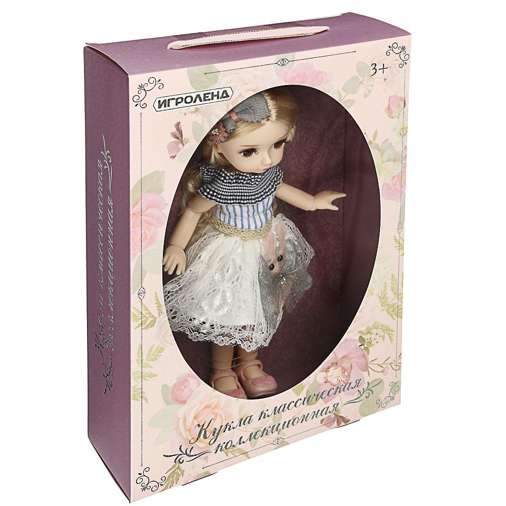 ИГРОЛЕНД Кукла классическая шарнирная, коллекционная, 28см, PP,PVC, полиэстер, 20х31х7см, 4 дизайна - 7