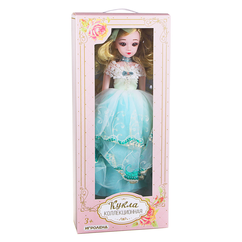 ИГРОЛЕНД Кукла коллекционная шарнирная, 60см, пластик, полиэстер, 3 дизайна - 3