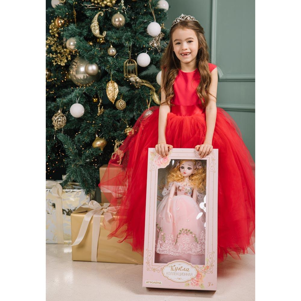 ИГРОЛЕНД Кукла коллекционная шарнирная, 60см, пластик, полиэстер, 3 дизайна - 5