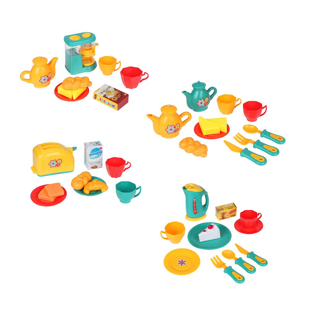 ИГРОЛЕНД Игровой набор Посудка, пластик, 9-11 пр., 35х24х7 см, 3 дизайна - 2