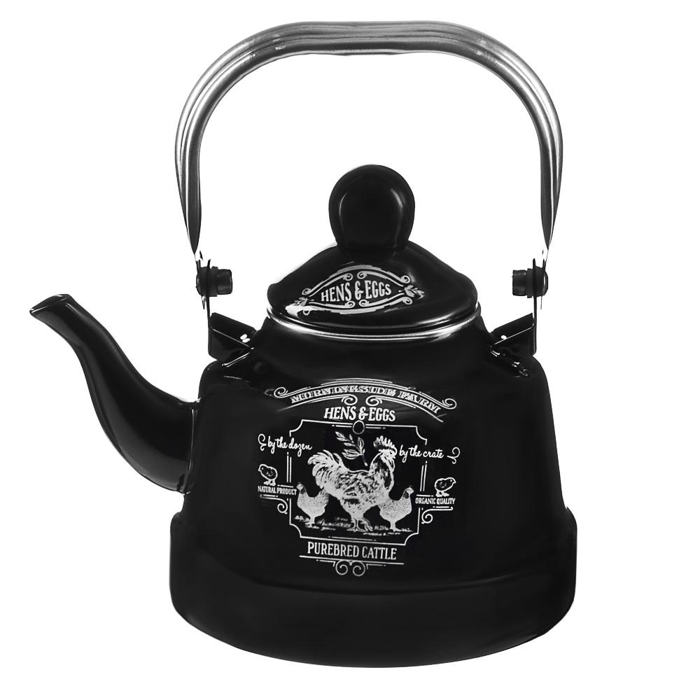 VETTA Ранчо Чайник эмалированный 1,1 л, 3 дизайна, индукция - 2