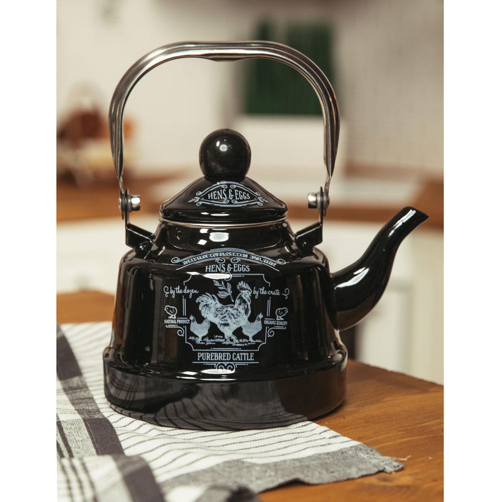 VETTA Ранчо Чайник эмалированный 1,1 л, 3 дизайна, индукция - 4