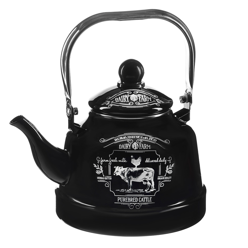 VETTA Ранчо Чайник эмалированный 2,5 л, 3 дизайна, индукция - 2