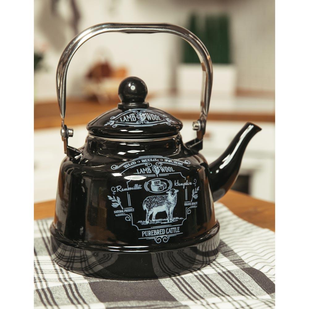 VETTA Ранчо Чайник эмалированный 2,5 л, 3 дизайна, индукция - 4