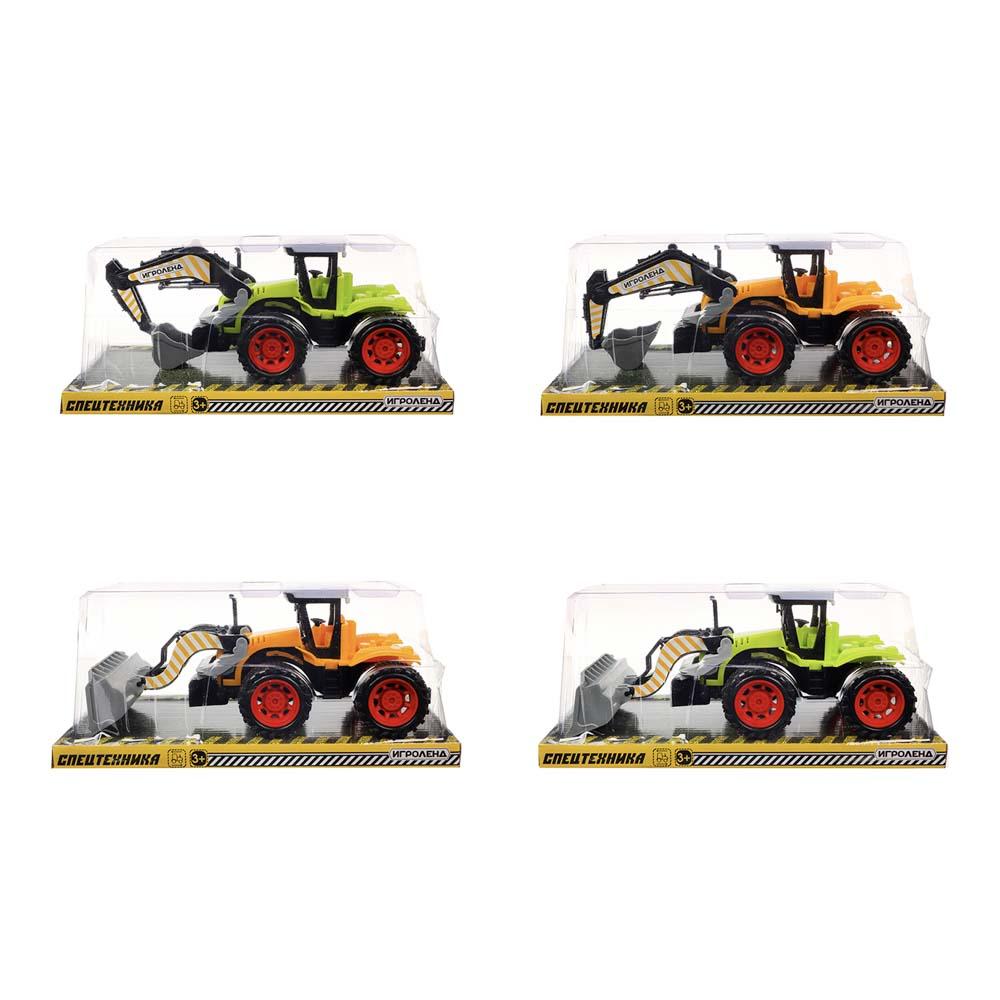 ИГРОЛЕНД Машина в виде Трактора, инерционного, PP, 27х11х12см, 4 дизайна - 2