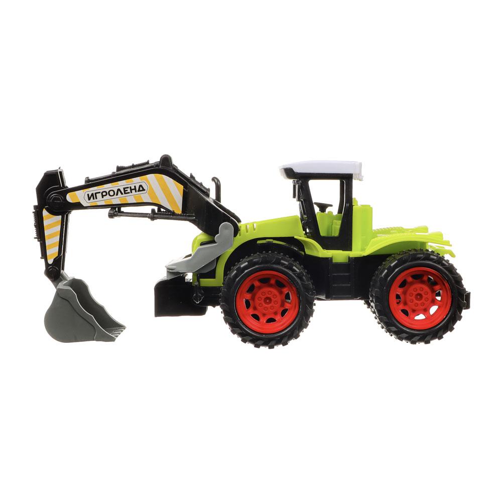 ИГРОЛЕНД Машина в виде Трактора, инерционного, PP, 27х11х12см, 4 дизайна - 5