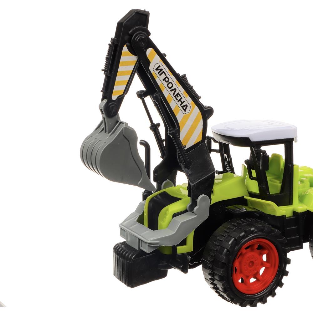 ИГРОЛЕНД Машина в виде Трактора, инерционного, PP, 27х11х12см, 4 дизайна - 8