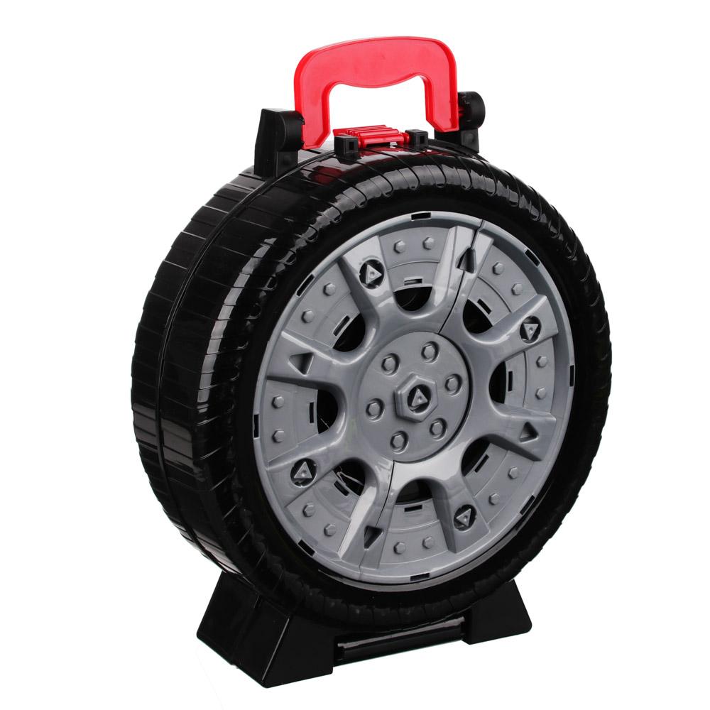 ИГРОЛЕНД Набор игровой Автопарковка в чемодане-колесе, 21 пр., ABS, 28х36х10,5см - 3