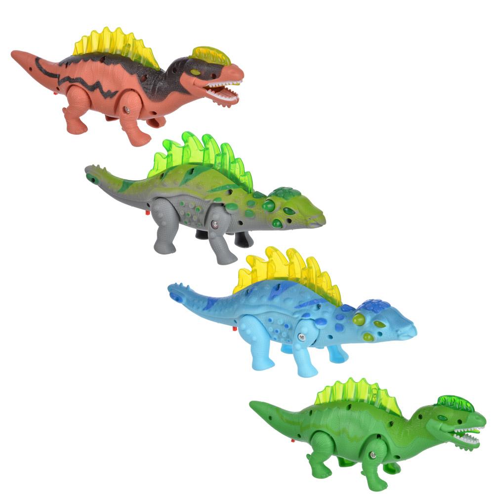 ИГРОЛЕНД Игрушка в виде динозавра, звук, свет, движение., ABS, 3АА, 24х10х6см, 4 дизайна - 3