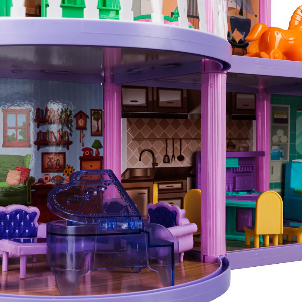 ИГРОЛЕНД Домик для кукол с мебелью, 111 дет., ABS,PP, картон, 31х20х6,5см - 3