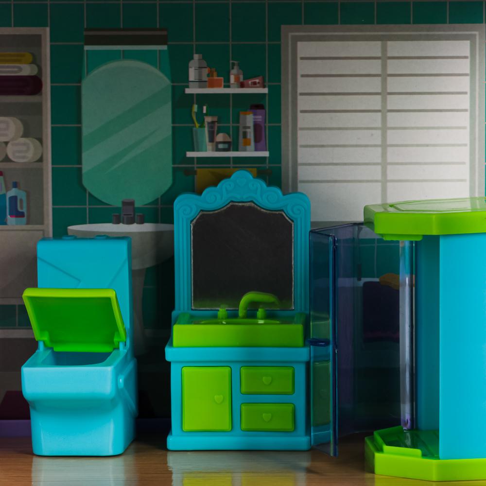 ИГРОЛЕНД Домик для кукол с мебелью, 111 дет., ABS,PP, картон, 31х20х6,5см - 5