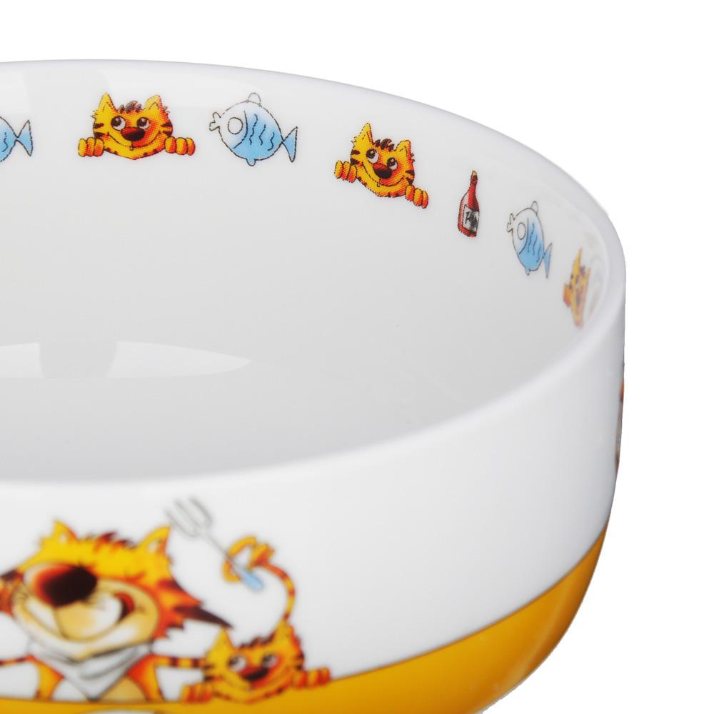MILLIMI Полосатый кот Набор детской посуды 3 предмета, костяной фарфор - 3